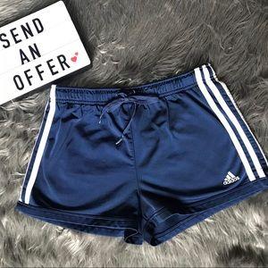 Adidas blue and white shorts